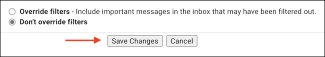 """After disabling tab categories, click the """"Save Changes"""" button."""