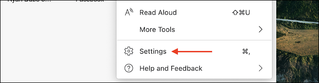 """Choose the """"Settings"""" option from the menu."""