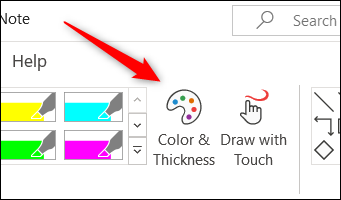 Color and Thickness option