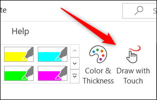 Draw with touch option