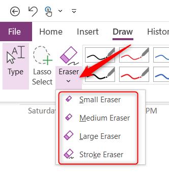 Eraser options