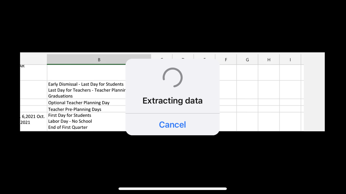 Extracting Data From a Picture in Excel on Mobile