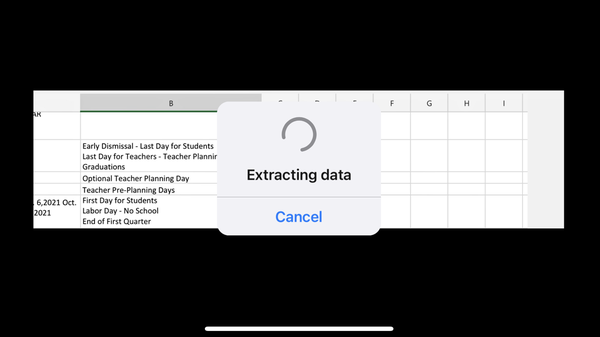 How to Insert Data from a Picture in Microsoft Excel on Mobile