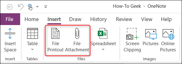 File Printout and File Attachment option in Files group