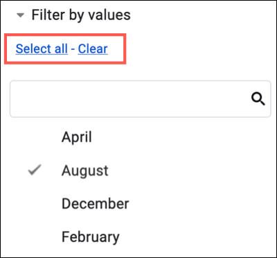 Optionally click Select All or Clear