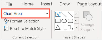 Go to Format and click the Chart Elements drop-down