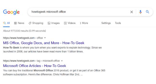 Поиск в Google HowToGeek