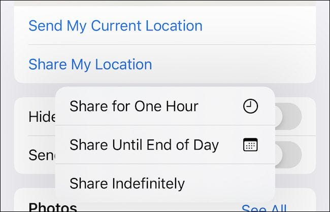 Sharing Location in iMessage
