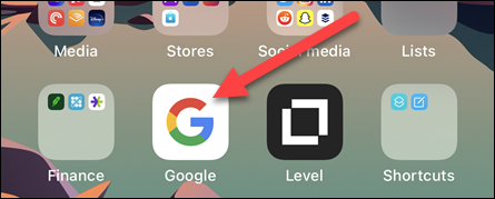 Open the Google App on your iPhone, iPad, or Android device