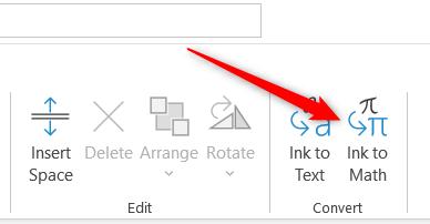 Ink to Math option