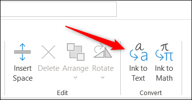 Ink to Text option