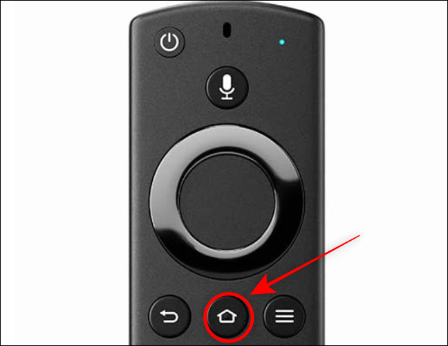 Keep the Home Button pressed on the Fire TV Remote for 3 seconds