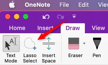 Lasso select on Mac