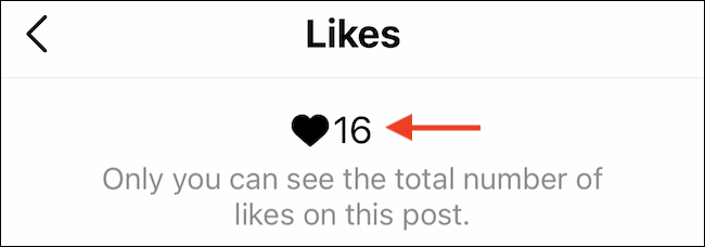 Only you will be able to see the Like count on your own posts.
