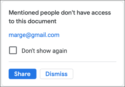 Click Share or Dismiss to share the document