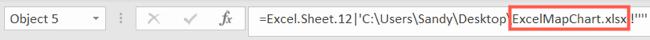 Workbook linked in object