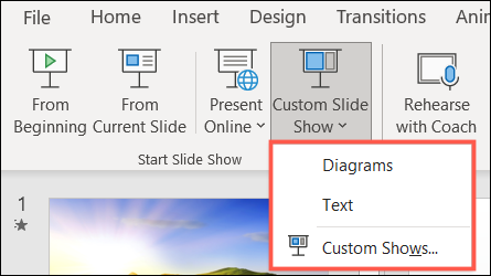 Play a Custom Show in PowerPoint
