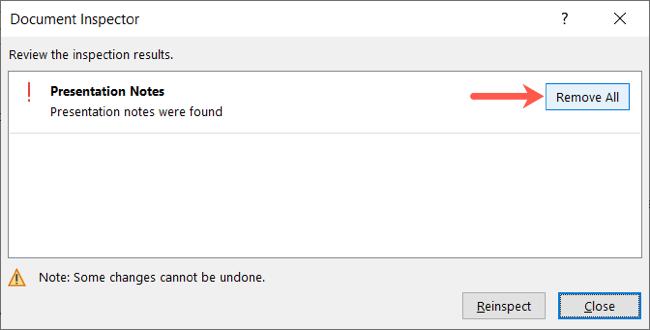 Click Remove All