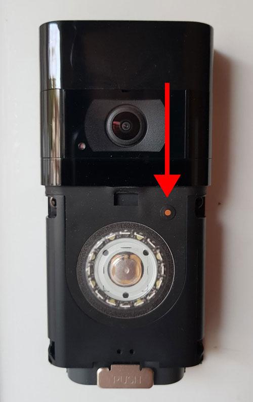 Ring doorbell reset button