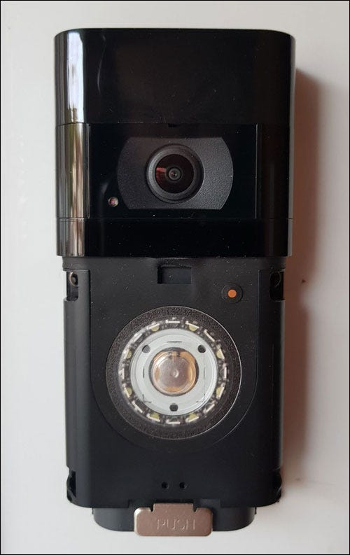 Ring doorbell without front cover