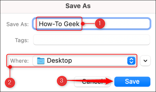 Save location in Mac