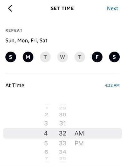 Schedule smart plug at set time