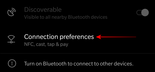 Select Connection Preferences to locate cast option