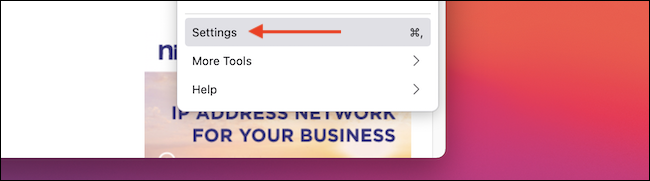"""Select """"Settings"""" from the Firefox menu."""