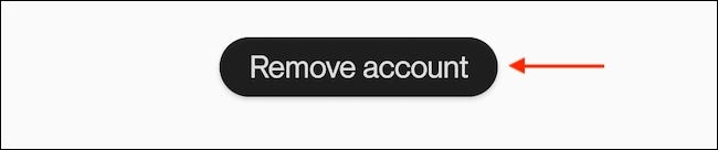 """Tap """"Remove Account"""" from the account page."""