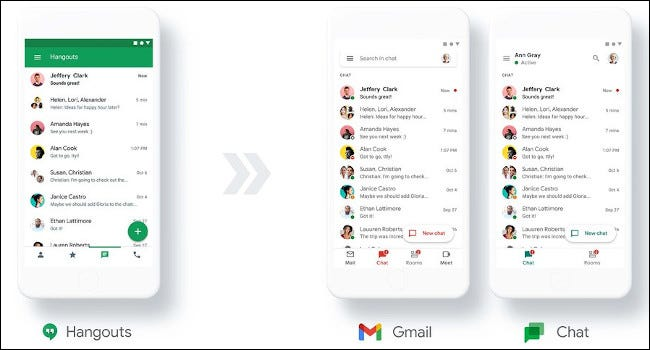 google hangouts transition to google chat