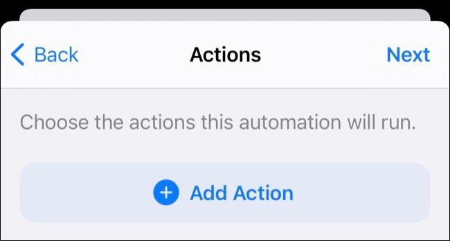 Add Action to Automation in Shortcuts