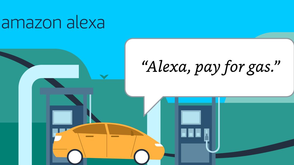 Плата за газ с помощью Alexa.