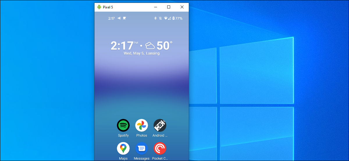 android screen mirrored on windows 10