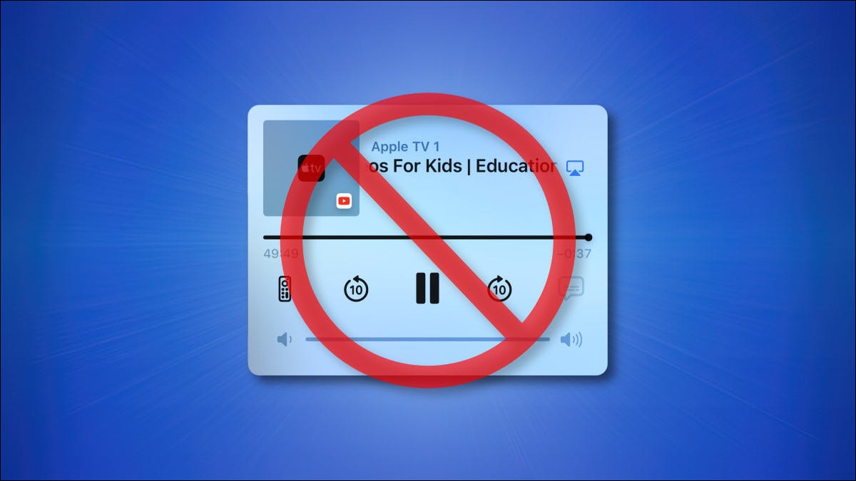 Apple iPhone Airplay controls with a