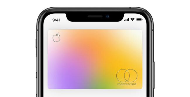 An Apple Card on an iPhone.