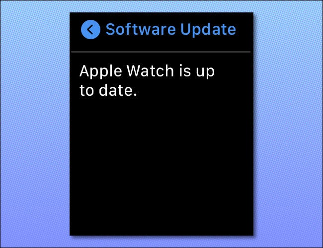 An Apple Watch screen is displayed