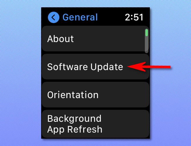 In Apple Watch settings, tap