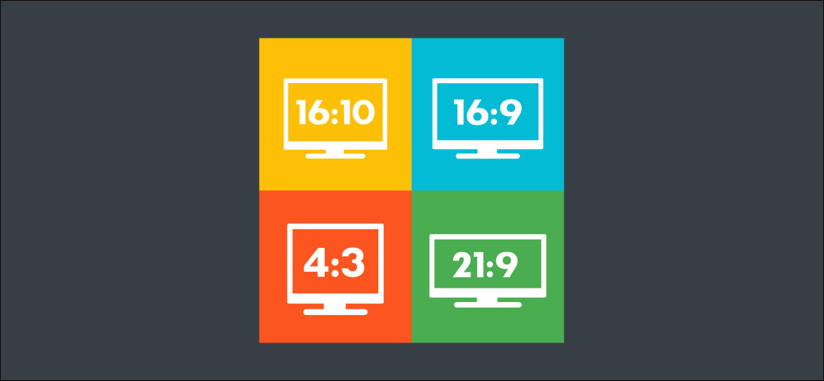 Icons representing the common 16:10, 16:9, 4:3, and 21:9 aspect ratios.