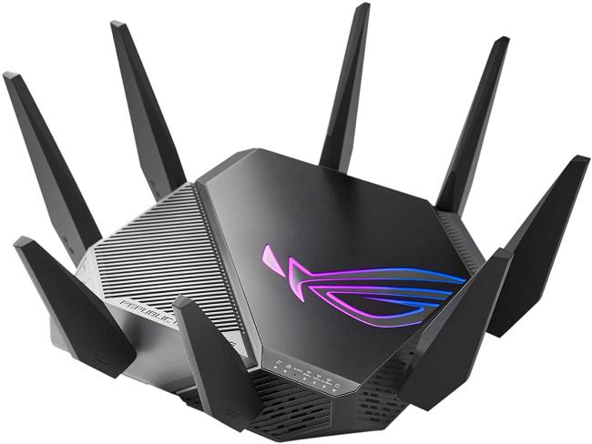 Asus GT-AXE11000 Wi-Fi 6E router.
