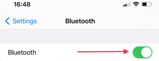 Bật Bluetooth trên iPhone hoặc iPad của bạn