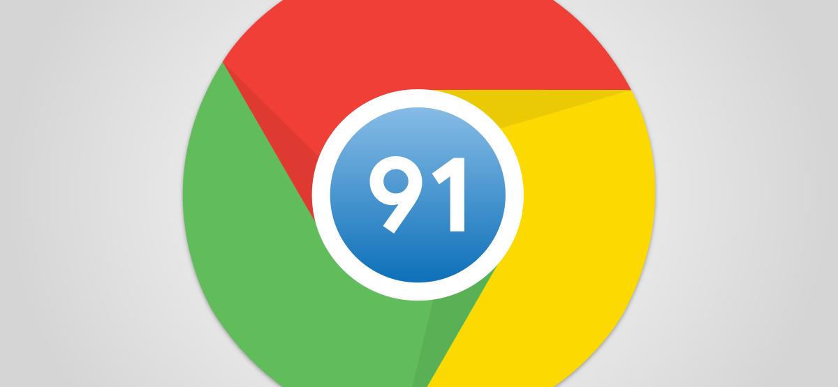 Google Chrome 91 logo
