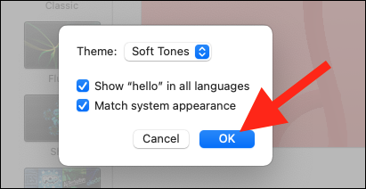 """Click """"OK"""" to save any changes"""
