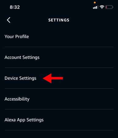 "Tap ""Device Settings."""