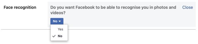 Disable Facebook Face Recognition