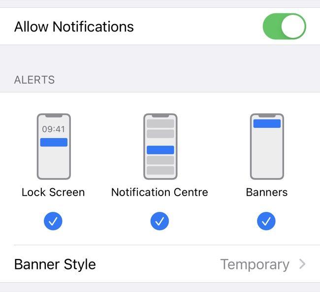 Edit iPhone Notification