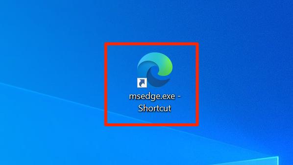 Edge's custom shortcut on a Windows desktop.