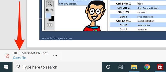 The download window in Microsoft Edge.