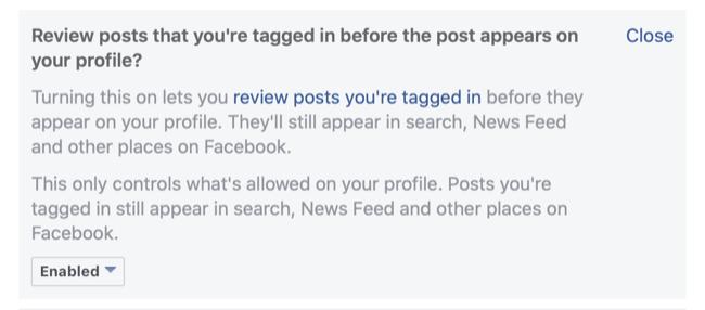 Enable Facebook Timeline Rating