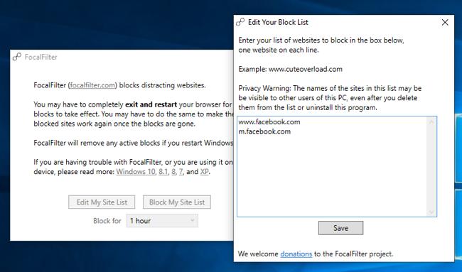 FocalFilter for Windows 10