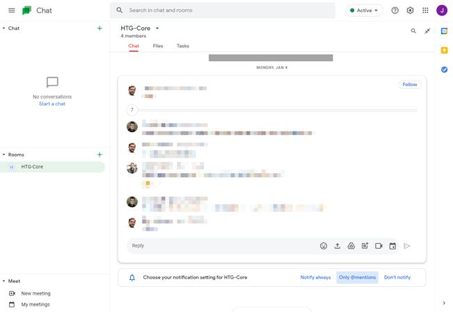 google meet main screen